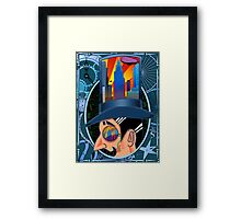 The Man who Couldn't Dream - Blue Framed Print