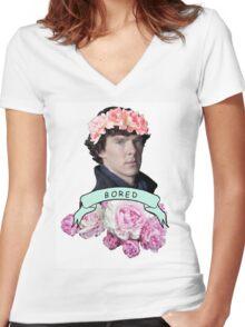 ♥ Sherlock ♥ Women's Fitted V-Neck T-Shirt