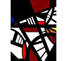 Scatter abstract red black white minimalist art Photographic Print