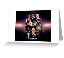 Dr Who 50th Anniversary Travel Mug design Greeting Card