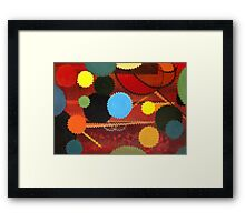 Circle Explosion Rework  Framed Print