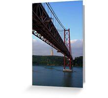 25 De Abril Bridge Greeting Card