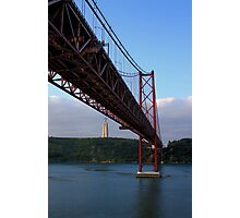 25 De Abril Bridge Photographic Print