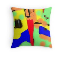 The Water Runs Red Throw Pillow
