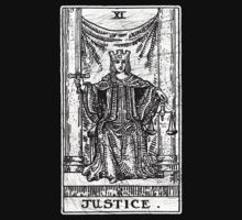 Justice Tarot Card - Major Arcana - fortune telling - occult by createdezign