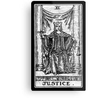 Justice Tarot Card - Major Arcana - fortune telling - occult Metal Print