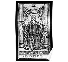Justice Tarot Card - Major Arcana - fortune telling - occult Poster