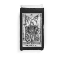 Justice Tarot Card - Major Arcana - fortune telling - occult Duvet Cover