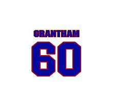 National football player Larry Grantham jersey 60 Photographic Print
