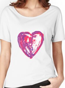 The Heart Of A Child By A Child Women's Relaxed Fit T-Shirt
