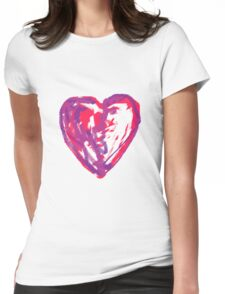 The Heart Of A Child By A Child Womens Fitted T-Shirt