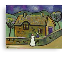 The thatched cottage (from my original acrylic painting) Canvas Print