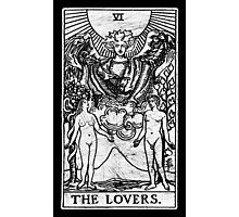 The Lovers Tarot Card - Major Arcana - fortune telling - occult Photographic Print