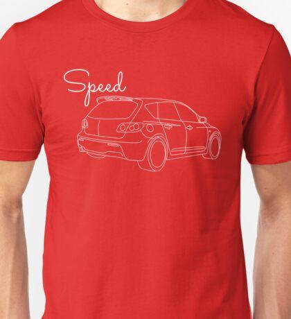 MazdaSpeed 3 Outline - Speed Artwork Unisex T-Shirt