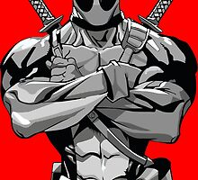 Deadpool B&W by craneone