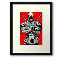Deadpool B&W Framed Print