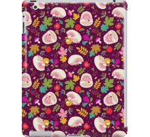 Cute White Hedgehogs in Purple  Background. iPad Case/Skin