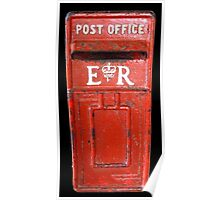 Red Post Office Box, Antigua, Caribean Poster