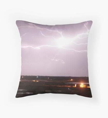 Over town. Throw Pillow