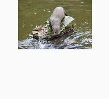 Otter by feeding pond at Escot Unisex T-Shirt