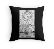 The Moon Tarot Card - Major Arcana - fortune telling - occult Throw Pillow
