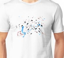 Blue and Black Painted Texture Unisex T-Shirt
