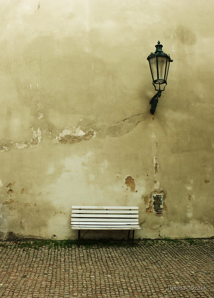 White Bench by Iwona Jozwik