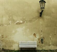 White Bench by Iwona Jozwik