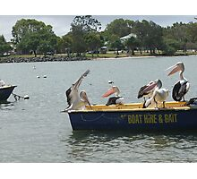 Hey!!! We told you dont rock the boat  Photographic Print