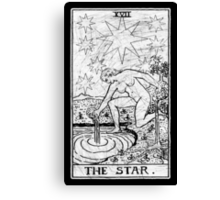 The Star Tarot Card - Major Arcana - fortune telling - occult Canvas Print