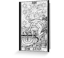 The Star Tarot Card - Major Arcana - fortune telling - occult Greeting Card