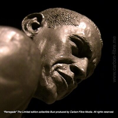 Renegade | Barack Obama Collectible Bust by Carbon-Fibre Media