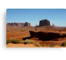 Ford Point in Monument Valley,AZ Canvas Print
