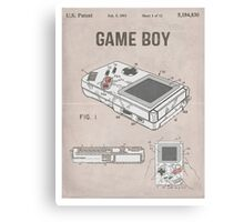 Gameboy Patent Canvas Print