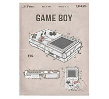 Gameboy Patent Photographic Print