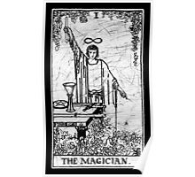The Magician Tarot Card - Major Arcana - fortune telling - occult Poster