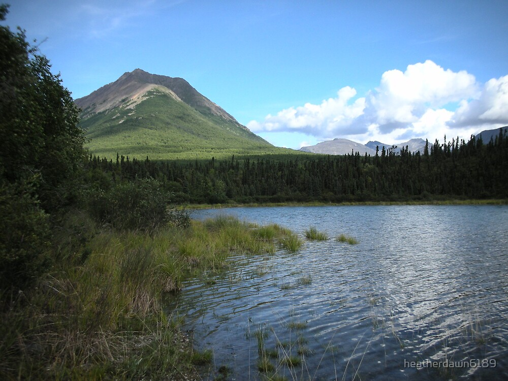 Tanalian Mountain from the Lake by heatherdawn6189