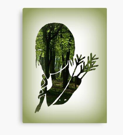 Katniss Everdeen in the Woods Canvas Print