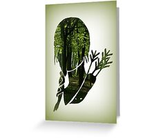 Katniss Everdeen in the Woods Greeting Card