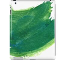 Green Painted Paper iPad Case/Skin