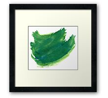 Green Painted Paper Framed Print