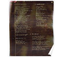 003 - Scattered Resistance -  Poetry Full Page Poster