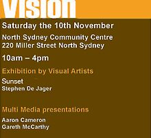 invitation and the blurb: Changeable Art on sat nov 10 by sunset