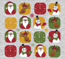 Christmas Countdown Pattern One Piece - Long Sleeve