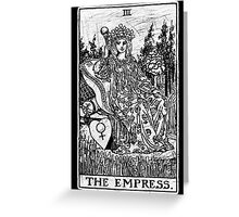 The Empress Tarot Card - Major Arcana - fortune telling - occult Greeting Card