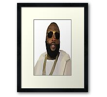 Low Poly Rick Ross Framed Print