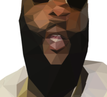 Low Poly Rick Ross Sticker
