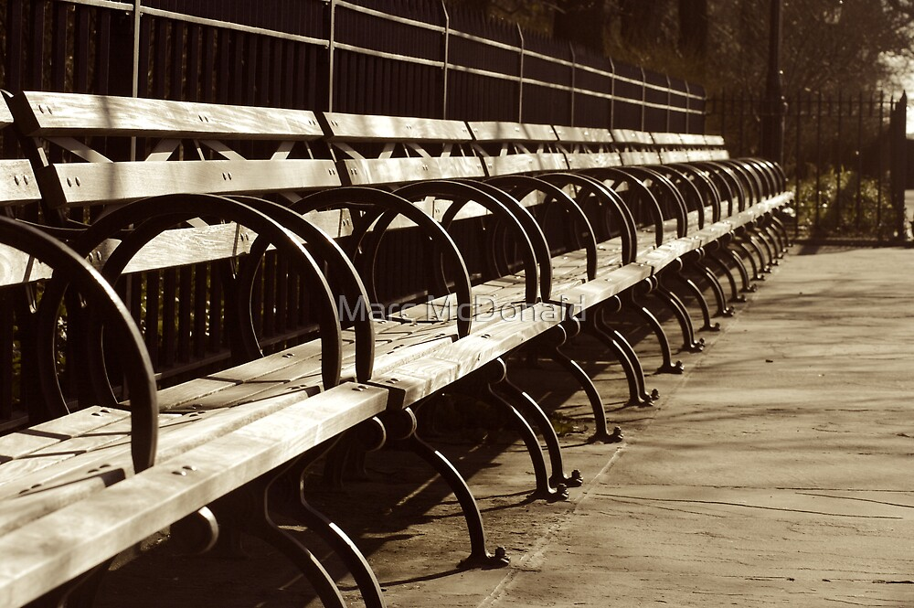Peaceful Benches by Marc McDonald