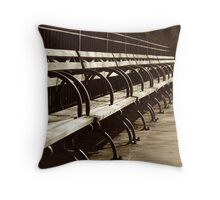 Peaceful Benches Throw Pillow