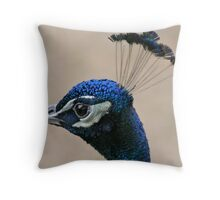 Peacock Crown Throw Pillow